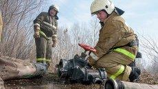 Тренировка Новосибирского МС по тушению пожаров