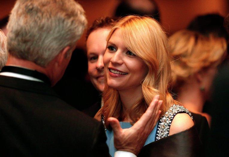 Актриса Клэр Дэйнс на ужине Ассоциации журналистов Белого дома