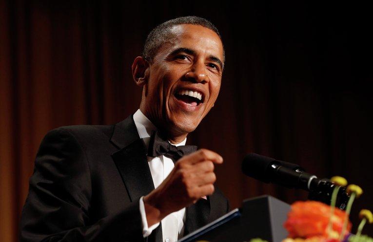 Президент США Барак Обама на ужине Ассоциации журналистов Белого дома