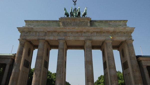 Бранденбургские ворота в центре Берлина