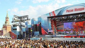 Праздничный концерт на Красной площади в Москве. Архивное фото
