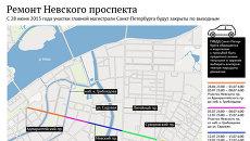 Ограничение движения по Невскому проспекту из-за ремонта