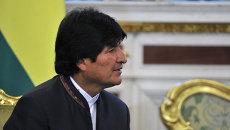 Президент Боливии Эво Моралес Айма. Архив