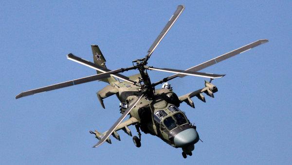 Вертолет Ка-52 Аллигатор. Архивное фото.