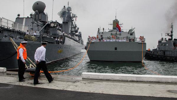 Встреча кораблей ВМФ Китая во Владивостоке