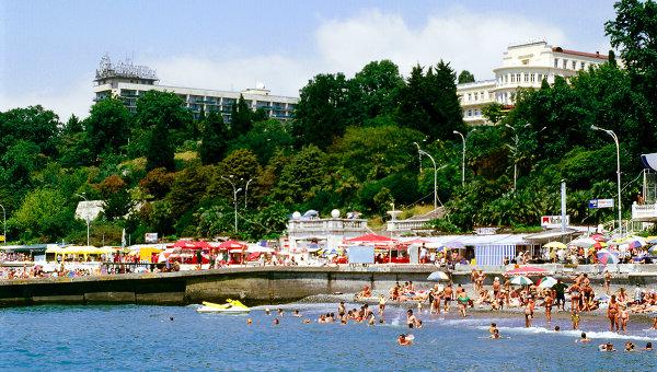 Сочинский пляж, архивное фото