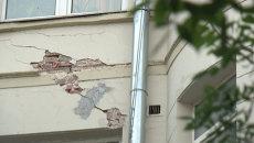 Трещина в стене жилого дома. Архивное фото