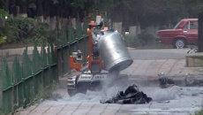 Робот разминировал бомбы у мечети в Дагестане. Кадры спецоперации