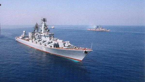Флагманский корабль Черноморского флота гвардейский ракетный крейсер Москва