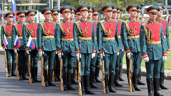 Военнослужащие Преображенского полка. Архивное фото