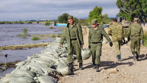 Паводок в Комсомольске-на-Амуре. Архивное фото