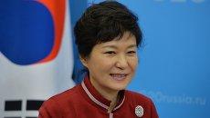 Бывший президент Республики Корея Пак Кын Хе. Архивное фото