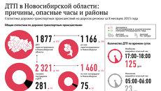 Аварии на дорогах Новосибирской области: восемь месяцев в цифрах