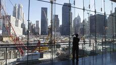 Стройка на месте разрушенных башен-близнецов в Нью-Йорке