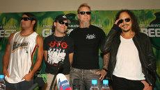 Участники группы Metallica, архивное фото