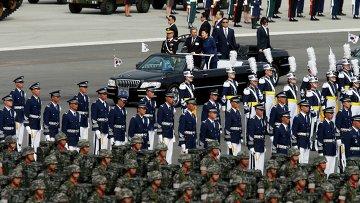Военный парад в городе Соннам, Южная Корея