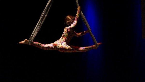 Воздушная гимнастка. Архивное фото