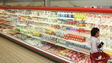 Молочные продукты в одном из супермаркетов. Архивное фото