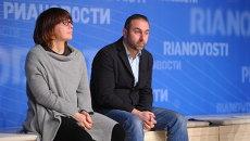 Фёкла Толстая и Михаил Калужский на Открытом показе