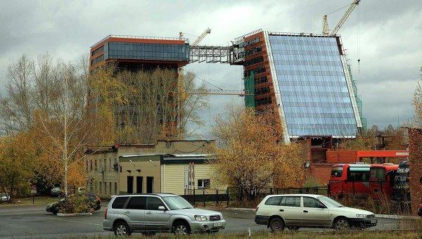 Строящееся здание технопарка в Новосибирске. Архивное фото