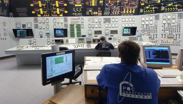 Щит управления энергоблока атомной станции. Архивное фото