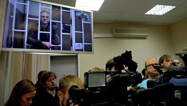 Видеотрансляция судебного заседания. Архивное фото