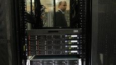 Центр обработки данных (ЦОД) в здании компании Ростелеком в Санкт-Петербурге. Архивное фото