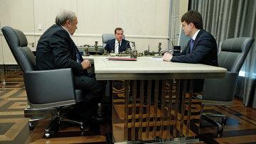 Д.Медведев провел рабочую встречу с В.Фортовым и М.Котюковым