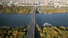 Димитровский автомобильный мост через реку Обь, архивное фото