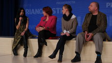 Участники дискуссии Открытого показа после просмотра фильма Встречайте Фоккенов