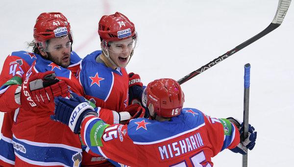 Хоккеисты ХК ЦСКА. Архивное фото