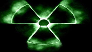 Знак радиации, архивное фото фото