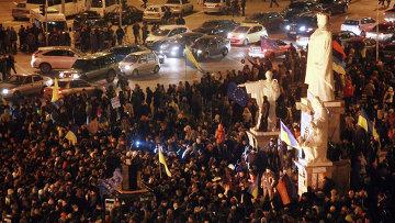 В Киеве продолжаются народные волнения, фото с места событий