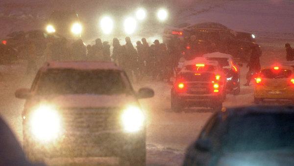 Обильный снегопад. Архивное фото