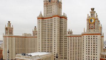 Главное здание МГУ, архивное фото