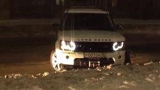 Внедорожник мэра Ангарска попал в ДТП. Съемка очевидца аварии