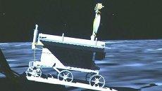 Кадры первых шагов по Луне китайского лунохода Нефритовый заяц