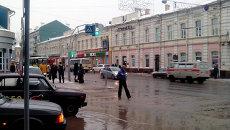 Дождь в декабре в Томске, фото с места событий