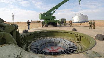 На пусковой площадке №175 Российских ракетных войск стратегического назначения (РВСН) космодрома Байконур
