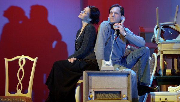 Сцена из спектакля В случае убийства набирайте М. Фото с репетиции