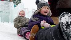 Зимний отдых томичей, архивное фото
