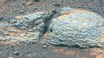 Одна из залежей марсианской глины, найденных марсоходом Opportunity в кратере Индевор