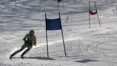 Соревнования по горным лыжам в Приморье