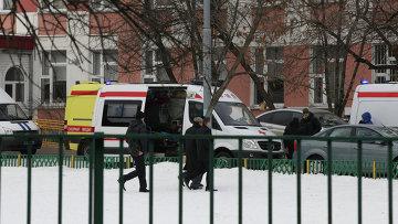 Школа в Москве, где ученик открыл стрельбу. Архивное фото