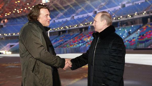 В.Путин поздравил с днем рождением К.Эрнста