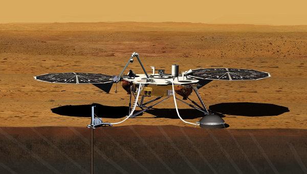 Зонд InSight. Архивное изображение