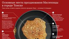 Основные места празднования Масленицы в Томске