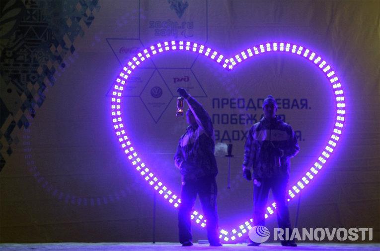 Эстафета паралимпийского огня в Северске Томской области