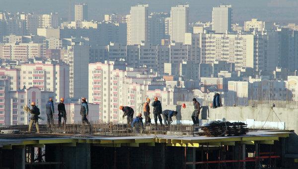 Строительство жилого квартала в Москве. Архивное фото