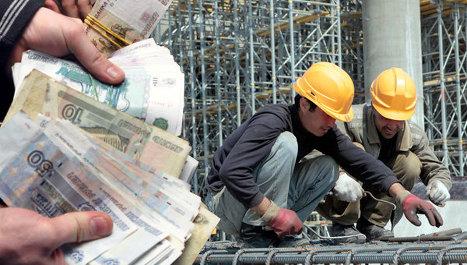 строительство, рабочие, гастарбайтеры, деньги, рубли, зарплата